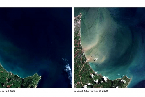 Satellite images show scale of erosion problem