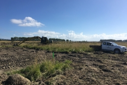 Creating the new wetland at Waitangi Regional Park