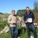 Garth Eyles and Steve Cave at Pekapeka discussing the new book. Copy