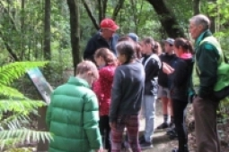Te Awa school students at White Pine bush web2