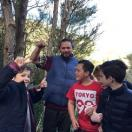 Onekawa students pleased to see Pereri King retrieve a dead rat from a trap v.thumb