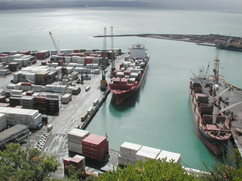 Port of Napier from Bluff Hill lookout